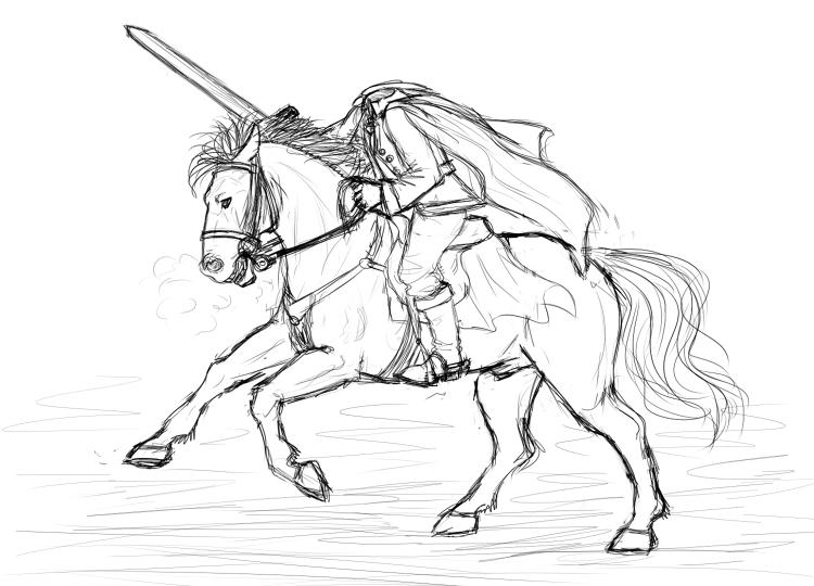 Horsemen coloring #17, Download drawings