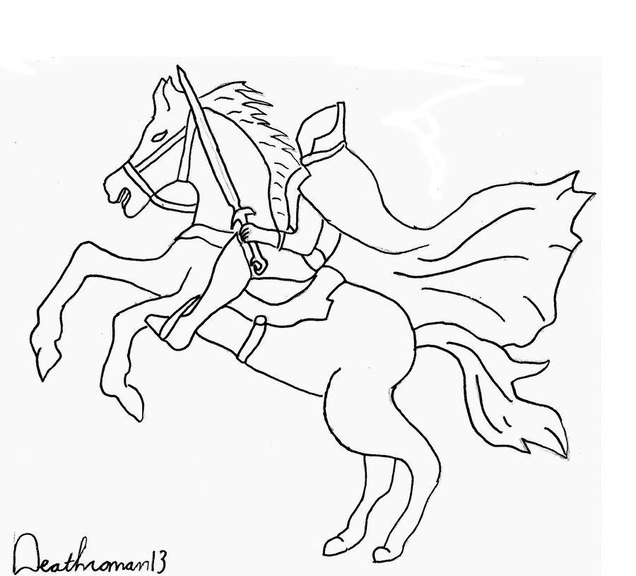 Horsemen coloring #16, Download drawings