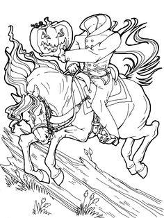 Horsemen coloring #6, Download drawings