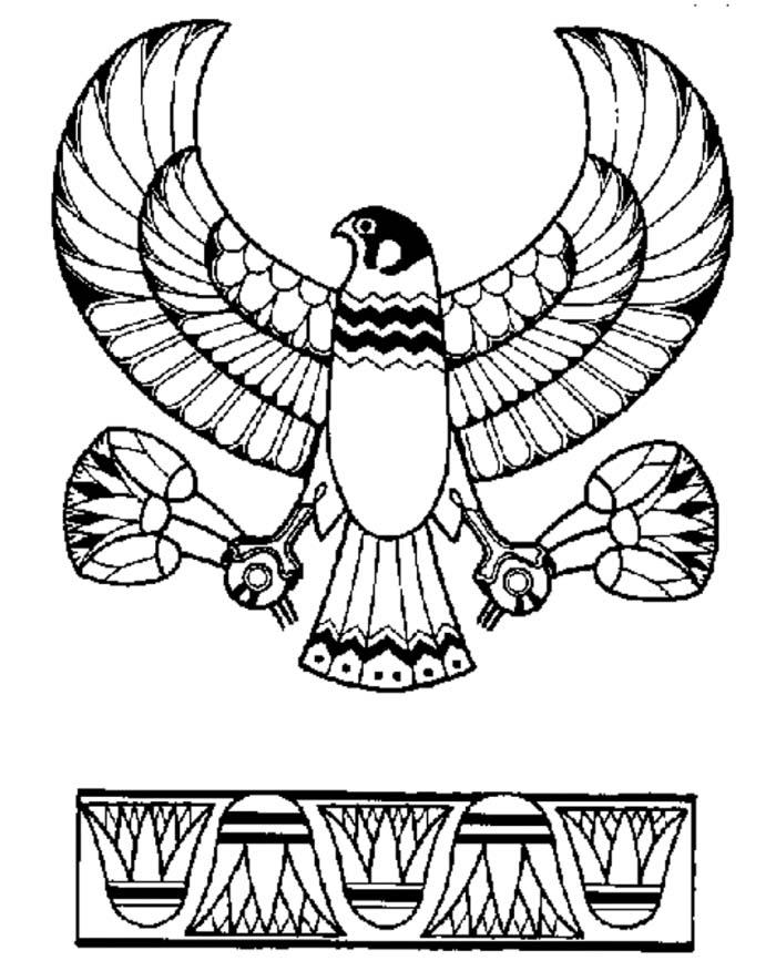 Horus coloring #5, Download drawings