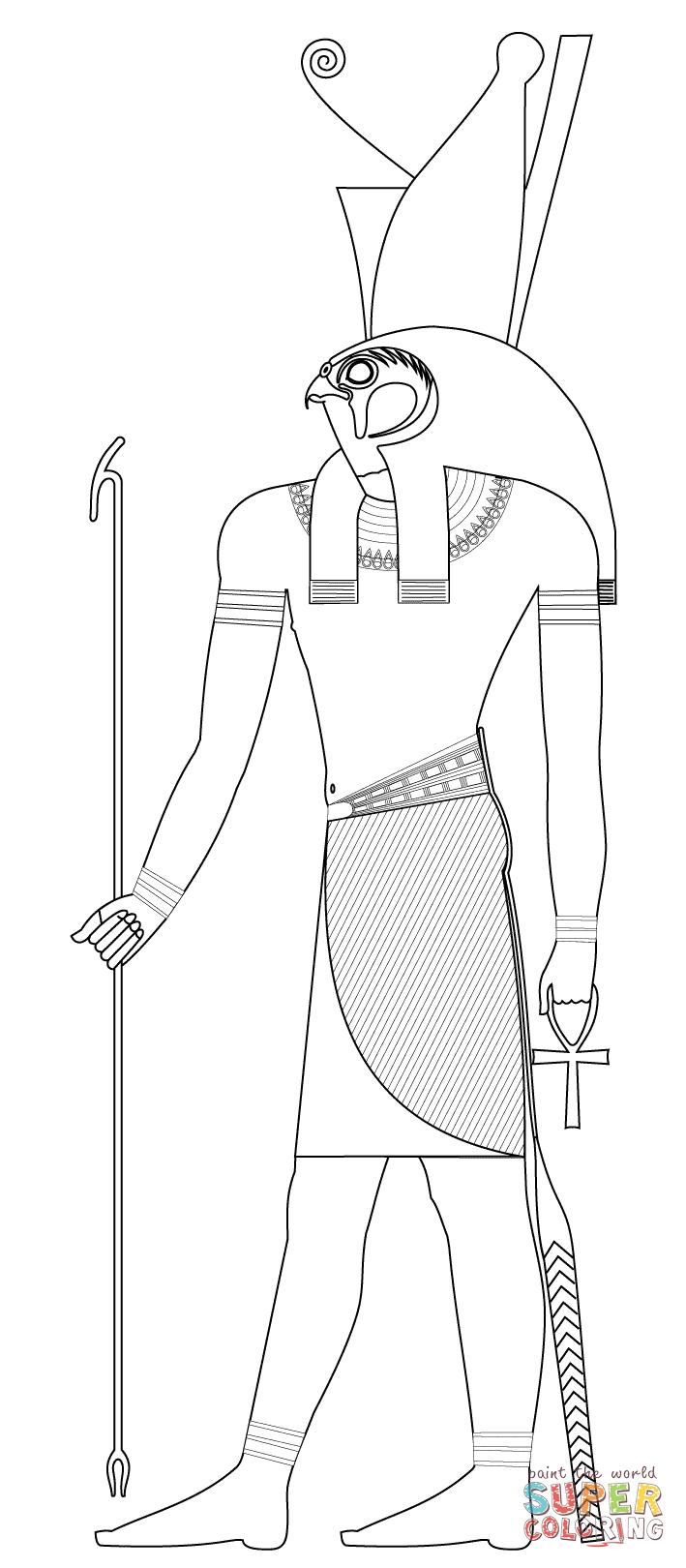 Horus coloring #15, Download drawings