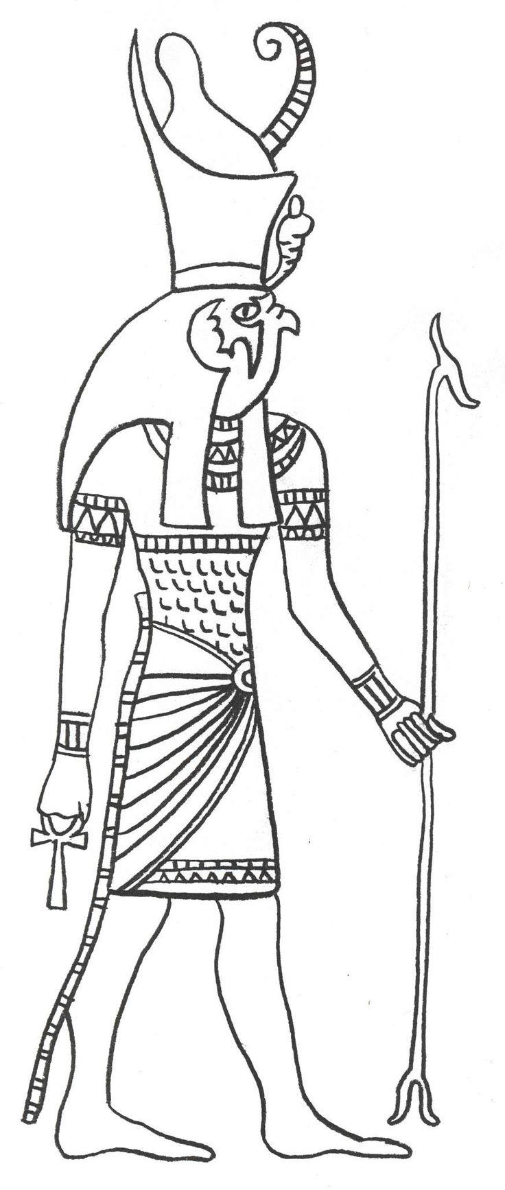Horus (Deity) coloring #7, Download drawings