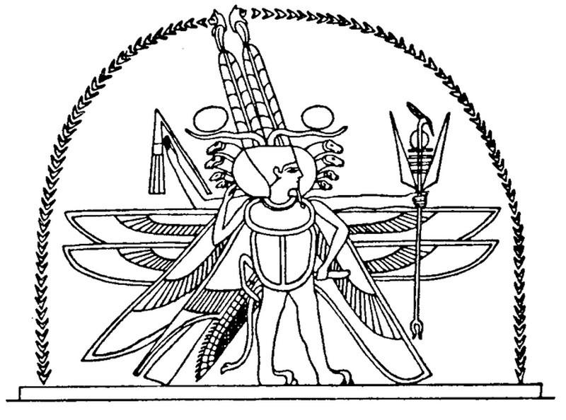 Horus coloring #4, Download drawings