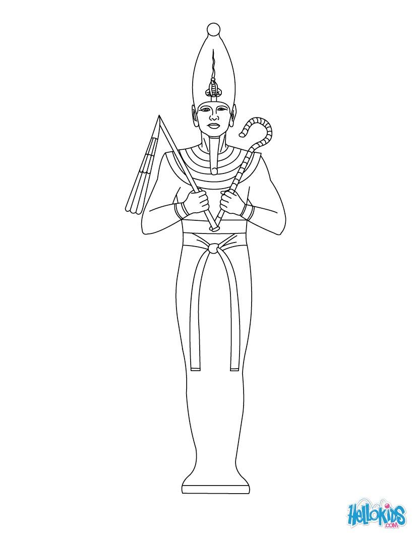 Horus (Deity) coloring #2, Download drawings