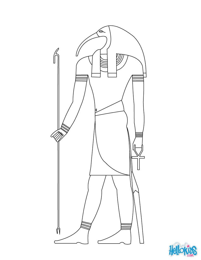 Horus (Deity) coloring #1, Download drawings