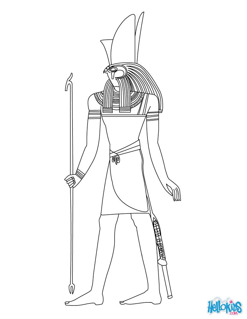 Horus coloring #16, Download drawings