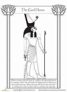 Horus coloring #14, Download drawings