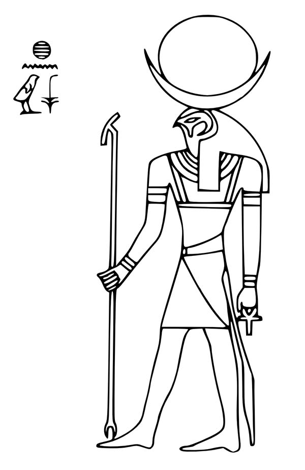 Ra (Deity) coloring #2, Download drawings