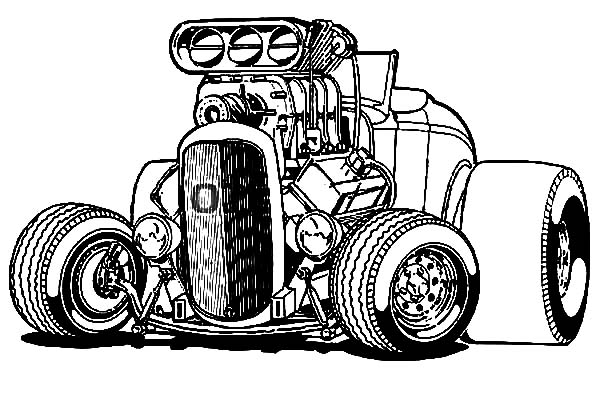 Hot Rod coloring #12, Download drawings