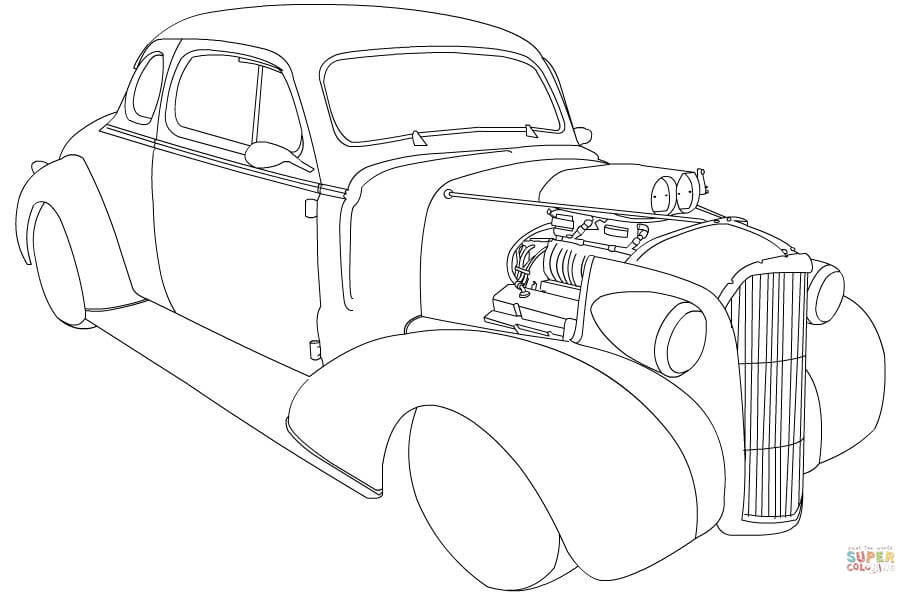 Hot Rod coloring #3, Download drawings