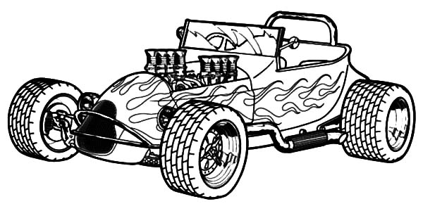 Hot Rod coloring #10, Download drawings
