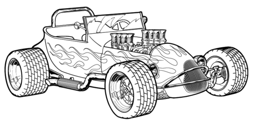 Hot Rod coloring #19, Download drawings