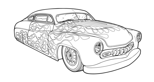 Hot Rod coloring #20, Download drawings