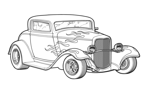 Hot Rod coloring #11, Download drawings