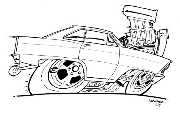 Hot Rod coloring #15, Download drawings