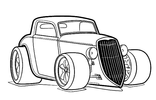Hot Rod coloring #18, Download drawings