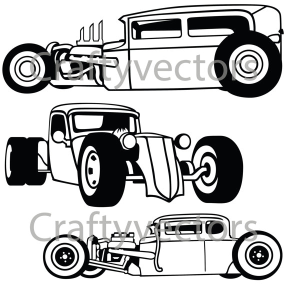 Hot Rod svg #18, Download drawings