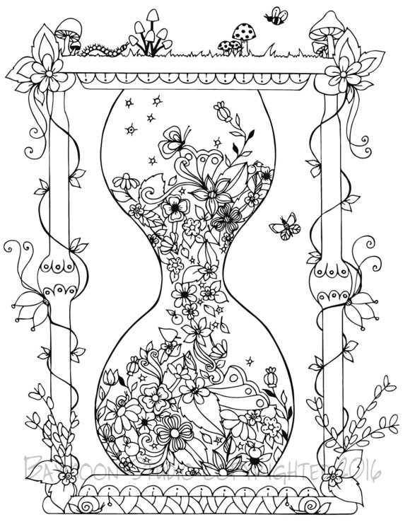 Hourglass coloring #18, Download drawings