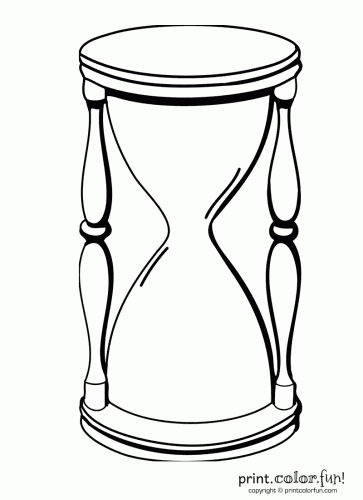 Hourglass coloring #20, Download drawings