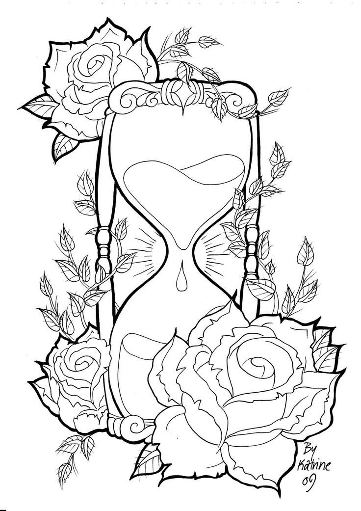 Hourglass coloring #12, Download drawings