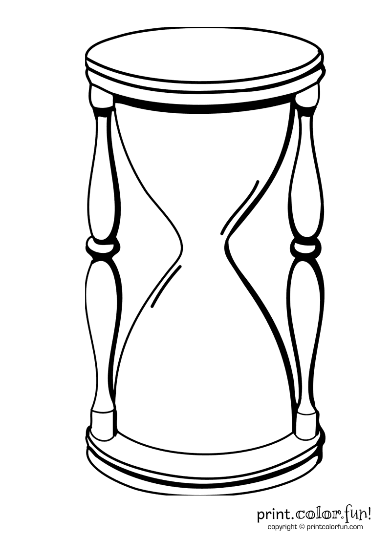 Hourglass coloring #16, Download drawings
