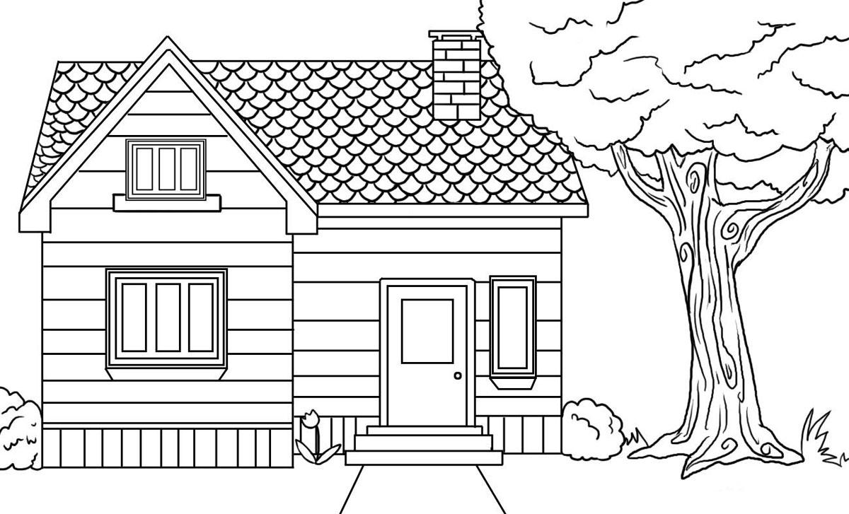 Homes coloring #7, Download drawings