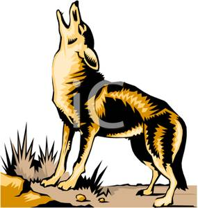 Howling Wolf clipart #1, Download drawings