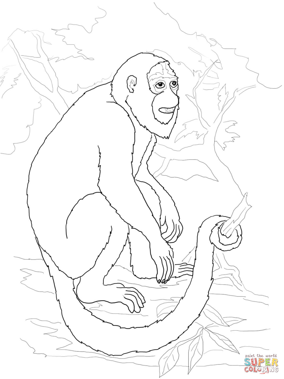 Howler Monkey coloring #13, Download drawings