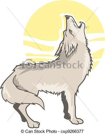 Howling clipart #2, Download drawings