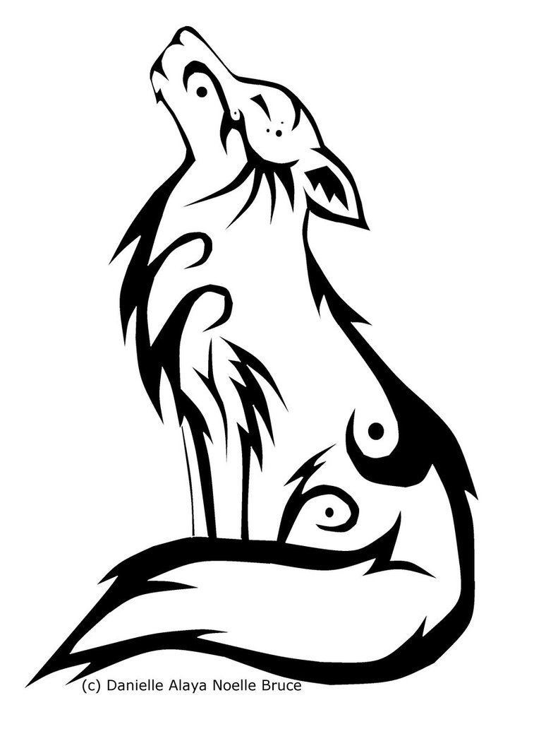 Howling Wolf clipart #3, Download drawings