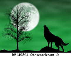 Howling Wolf clipart #7, Download drawings