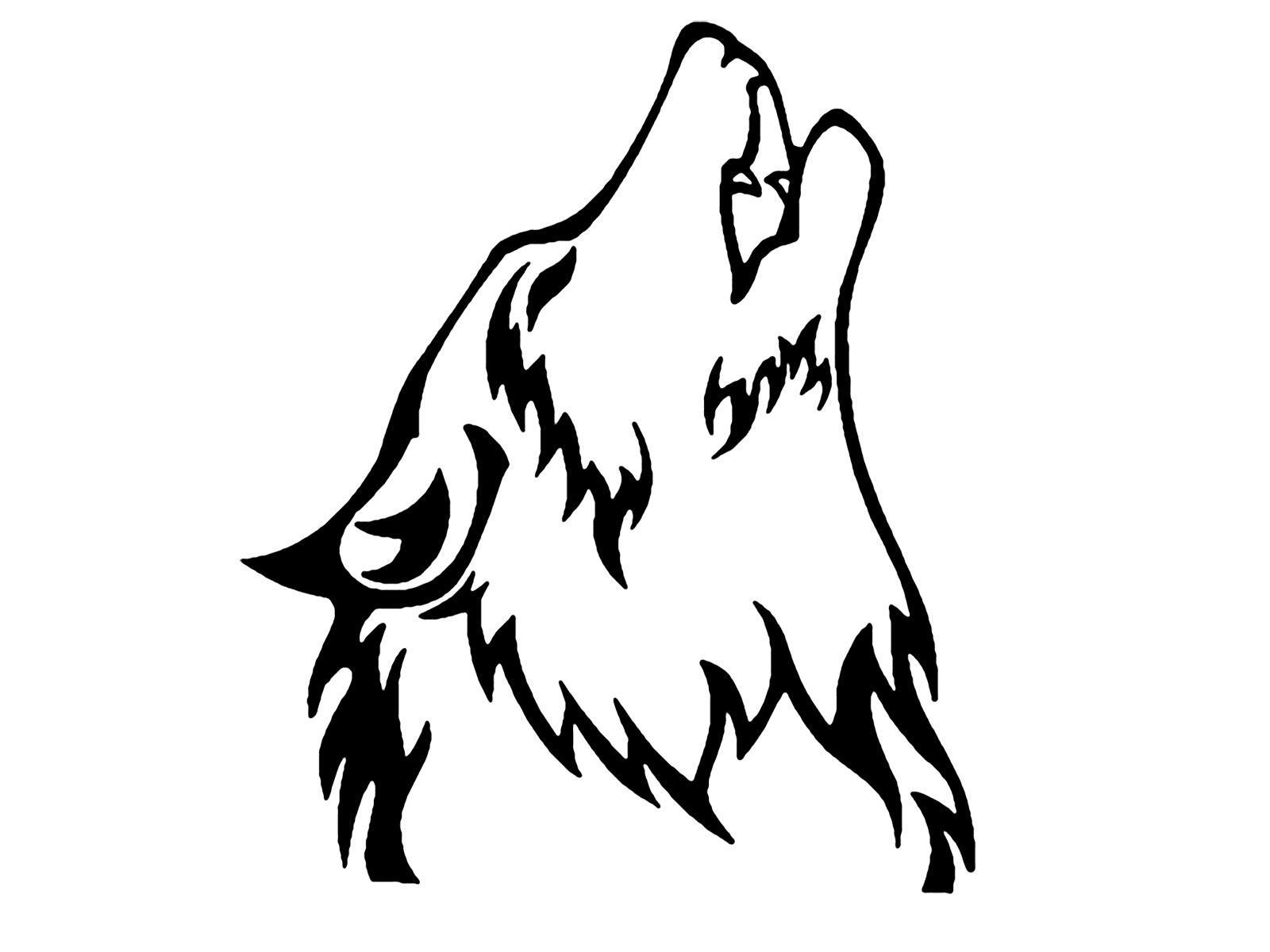 Howling Wolf clipart #17, Download drawings
