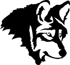 White Wolf svg #1, Download drawings