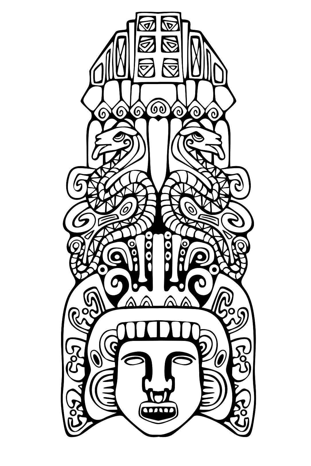 Huey Altepetl coloring #18, Download drawings