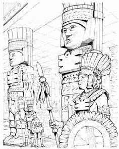 Huey Altepetl coloring #6, Download drawings