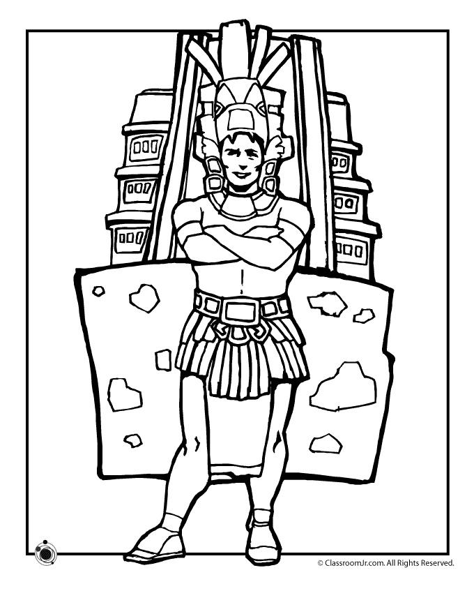 Huey Altepetl coloring #20, Download drawings