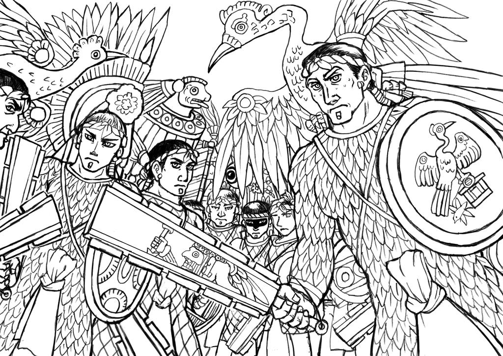 Huey Altepetl coloring #15, Download drawings