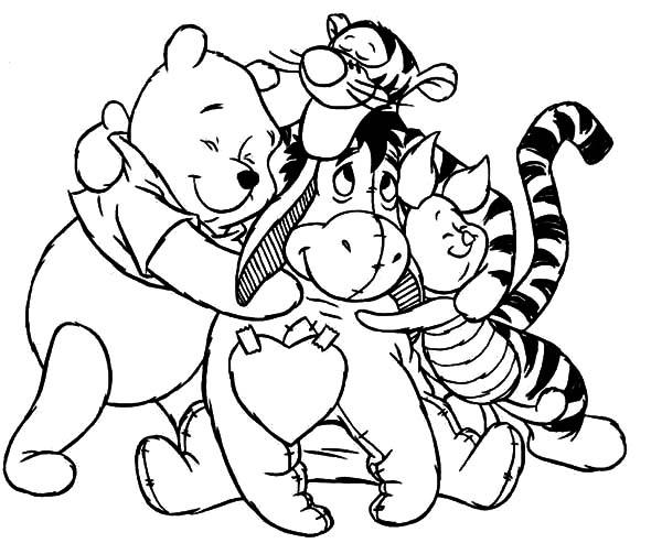 Hug coloring #12, Download drawings
