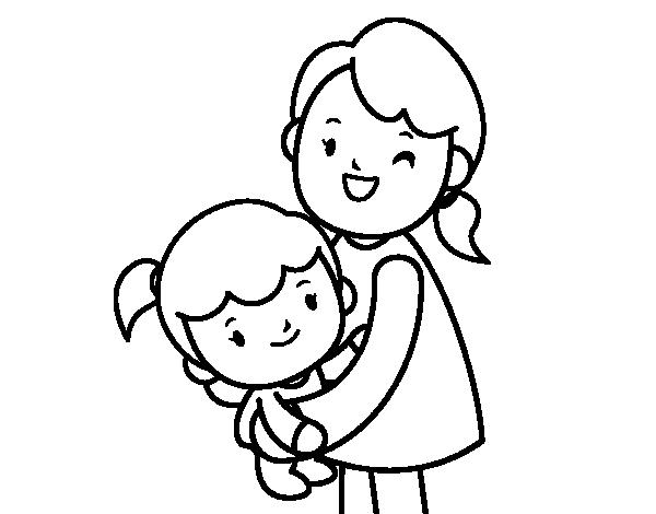 Hug coloring #4, Download drawings