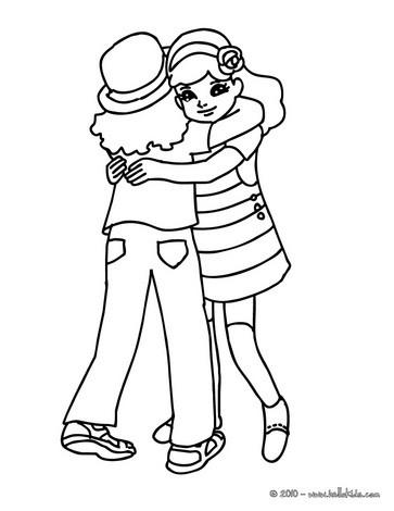 Hug coloring #3, Download drawings