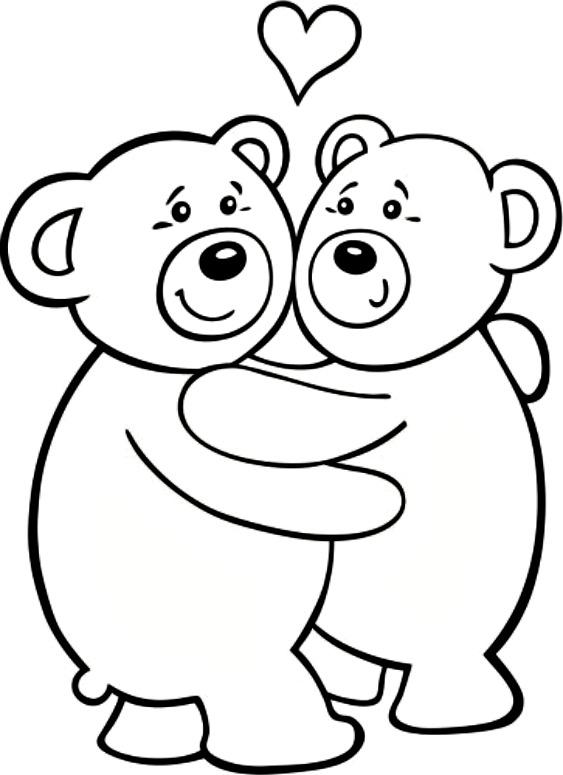 Hug coloring #17, Download drawings