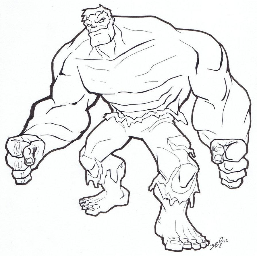 Hulk coloring #16, Download drawings