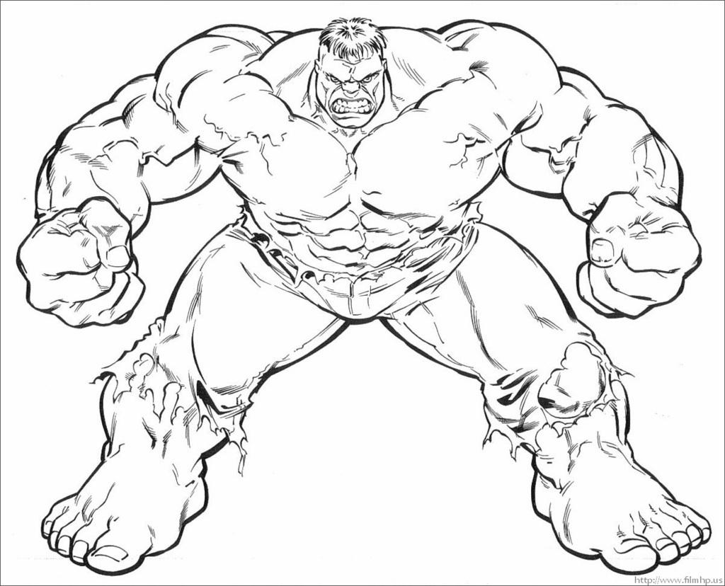 Hulk coloring #9, Download drawings