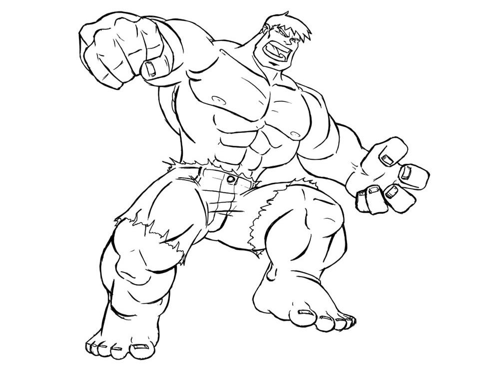 Hulk coloring #8, Download drawings