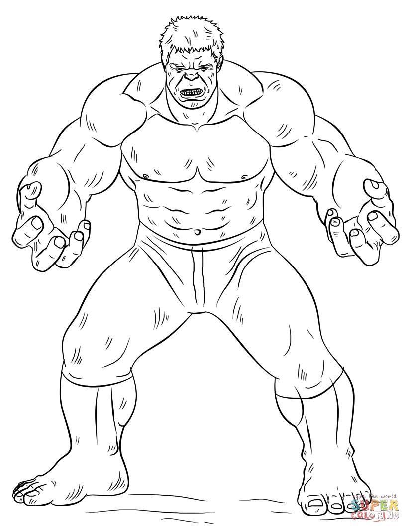 Hulk coloring #3, Download drawings