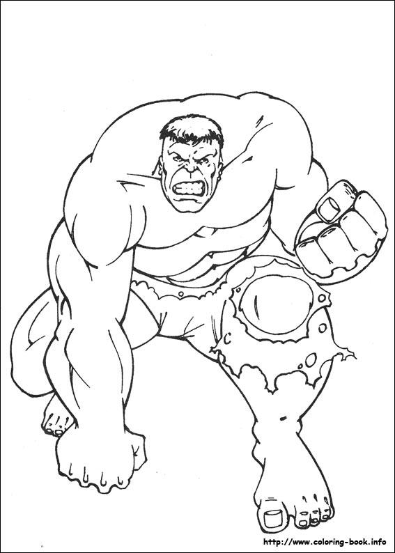 Hulk coloring #14, Download drawings