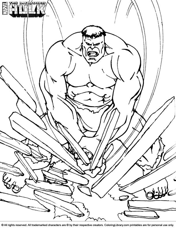 Hulk coloring #2, Download drawings