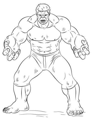 Hulk coloring #15, Download drawings