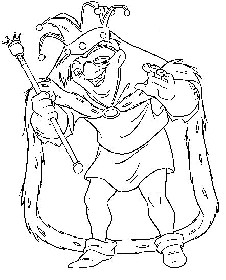 Hunchback Of Notre Dame coloring #6, Download drawings