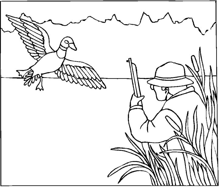 Hunter coloring #3, Download drawings
